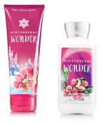 Bath & Body Works Winterberry Wonder Body Cream & Lotion Set