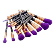 Hunputa15PCS Cosmetic Makeup Brush Makeup Brush Eyeshadow Brush