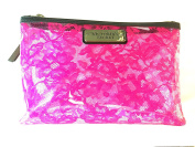 Victoria Secret Makeup Bag Skin Care Travel Tote Pink Lace Print 8.5 X 15cm X 7.6cm …