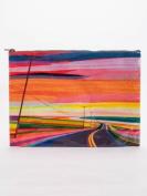 Blue Q Sunset Highway Jumbo Zipper Pouch