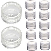 Doinshop 3 Gramme Jar Plastic Empty Cosmetic Sample Containers Jars Pots Screw Cap Lid