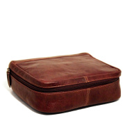 Jack Georges Voyager Large Leather Dopp Kit, Travel Kit in Brown