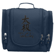 Travel Toiletry Bags Tai Chi Chinese Character Washable Bathroom Storage Hanging Cosmetic/Grooming Bag For Household Business Vacation, Multi Compartments, Waterproof Lining