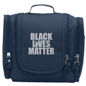 Travel Toiletry Bags Black Lives Matter Washable Bathroom Storage Hanging Cosmetic/Grooming Bag For Household Business Vacation, Multi Compartments, Waterproof Lining
