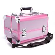 Professional Aluminium Makeup Organiser Beauty Artists Cosmetics Makeup Train Case Jewellery Storage Organiser
