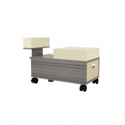 Pedicure Cart with Footrest ALERA Pedi Trolley Nail Salon Salon Furniture