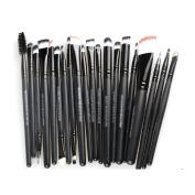 20 pcs/set Makeup Brush Set (Foundation Powder Brush,Lip Brush,Mascara Brush,Eyeshadow Brush,Two Side Brush,Eyebrow Mascara Brush,Sponge Brush,Smudge Brush,Nose Shadow Brush,So on)