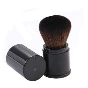 Aguder Soft Synthetic Kabuki Retractable Brush Dense Bristles Makeup Brush Concealer Foundation Blush Face Powder Bronzer Handle Brush, Black