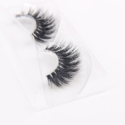 Arimika 3D Mink Eyelashes -Clear Invisible Flexible Band,Reusable with Proper Care