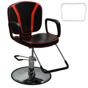 Inkbed Black & Red All Purpose Hydraulic Lift Reclining Client Chair Piercing Tattoo Studio Equipment