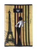 YaYwallet Womens's Credit Card Holder, Minimalist Wallet, La Parisienne