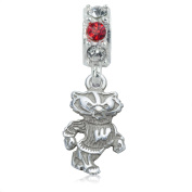 NCAA University of Wisconsin Badgers Jewellery - Sterling Silver Women's Charms and Charm Beads