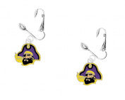 East Carolina University Silver-tone Dangle Earrings
