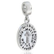 Cross Charm 925 Sterling Silver Bead Fits Pandora Charms