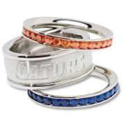 NCAA Florida Gators Logo Crystal Stacked Ring Set