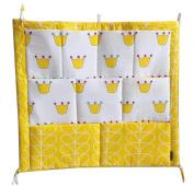 Lovely Crib Hanging Organiser Crib Hanging Bag Baby Bed Nappy Bag Crown