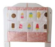 Crib Hanging Organiser Crib Hanging Bag Baby Bed Storage Bag Ice Cream
