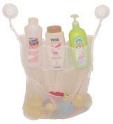 4-Section Bath Toy Organiser With 2 Hook Suction Cups