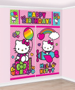 Hello Kitty Scene Setter Birthday Wall Banner Decoration party Supplies Favours