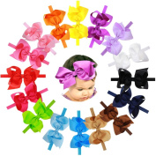 15Pcs 15cm Big Bows Baby Girls Toddlers Kids Teens Children Grosgrain Ribbon Hair Bows Soft Elastic Baby Headbands