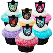 Monster High 24 Birthday Cupcake Rings Bag Fillers Party Supplies Favours Prizes
