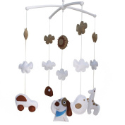 Unisex Baby Room Decoration Adorable Musical Baby Mobile [Dog]