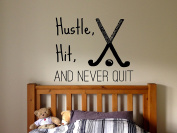 Wall Decal Sticker Bedroom Field Hockey Sport Quote Team Game Hockey Stick Ball Girls Boys Teenager Room fh17