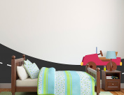 Transportation Themed Wall Mural for Toddler Boys' Bedroom