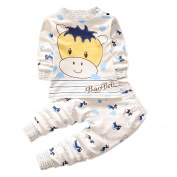 JIEYA Baby Girl Boy 2PCS Outfits Set Cartoon Printed Long Sleeve Top + Pants