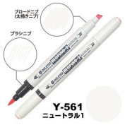 Deleter Neopiko-2 Refillable Dual Tip Alcohol Single Marker [Y-561 Neutral 1 (pantone Cool Grey 1U)] for Comic Manga Graphic Illustration