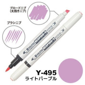 Deleter Neopiko-2 Refillable Dual Tip Alcohol Single Marker [Y-495 light purple (pantone 2572U)] for Comic Manga Graphic Illustration