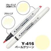 Deleter Neopiko-2 Refillable Dual Tip Alcohol Single Marker [Y-416 pale green (pantone 9580U)] for Comic Manga Graphic Illustration