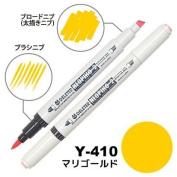 Deleter Neopiko-2 Refillable Dual Tip Alcohol Single Marker [Y-410 marigold (pantone 1225U)] for Comic Manga Graphic Illustration