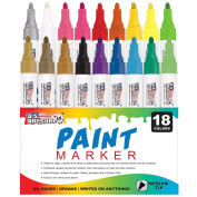 U.S. Art Supply 18 Colour Medium Point Tip Paint Pen Set