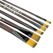 6Pcs Paint Brushes set Nylon For Art Artist Supplies Watercolour Oil Acrylic Painting