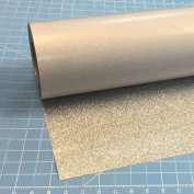 Silver Siser Glitter 50cm x 1.5m Iron on Heat Transfer Vinyl Roll