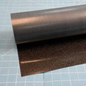 Black Siser Glitter 50cm x 0.9m Iron on Heat Transfer Vinyl Roll