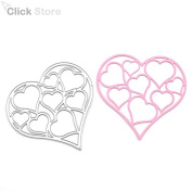 Hollow Out Steel Heart Cutting Dies Stencils For DIY Scrapbooking Photo Album Embossing Decorative Craft