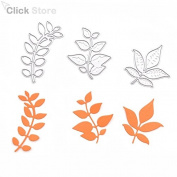3pcs Leaves Metal Cutting Dies Stencils DIY Scrapbooking Decorative Embossing Folder Paper Cards