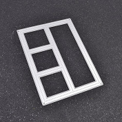 Window Frame Cutting Dies Stencils Embossing Decorative DIY Scrapbooking Diary Hand Craft