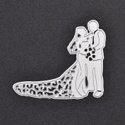 Steel Bride Groom Wedding Cutting Dies Stencils DIY Scrapbooking Decorative Photo Album Craft