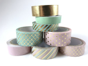 8 Pc Mint Recollections washi tape / crafting tape / scrapbooking tools / tapes and adhesives