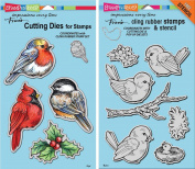 Stampendous Spring Tweets Stamps & Dies Set - 2 Item Bundle