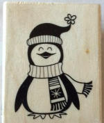 Penguin - Craft Smart Wood Mounted Rubber Stamps 2016