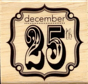December 25th - Craft Smart Wood Mounted Rubber Stamp 10287866