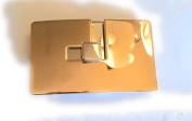 Designer LANVIN PARIS -Belt-Buckle for Women-Polished-Antique Gold-And-Silver for 5.1cm belt