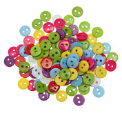 "areeratshop 100Pcs Resin Sewing Button Scrapbooking Round Mixed Two Holes 9mm(3/8"")Dia"