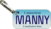 Personalised Connecticut 2000 Zipper Pull State Licence Plate Replica