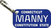 Personalised Connecticut 1987 Zipper Pull State Licence Plate Replica
