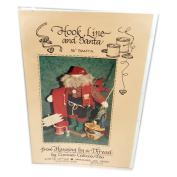Vintage 1993 Hanging by a Thread by Connie Calicos, Too Hook, Line and Santa Pattern 41cm